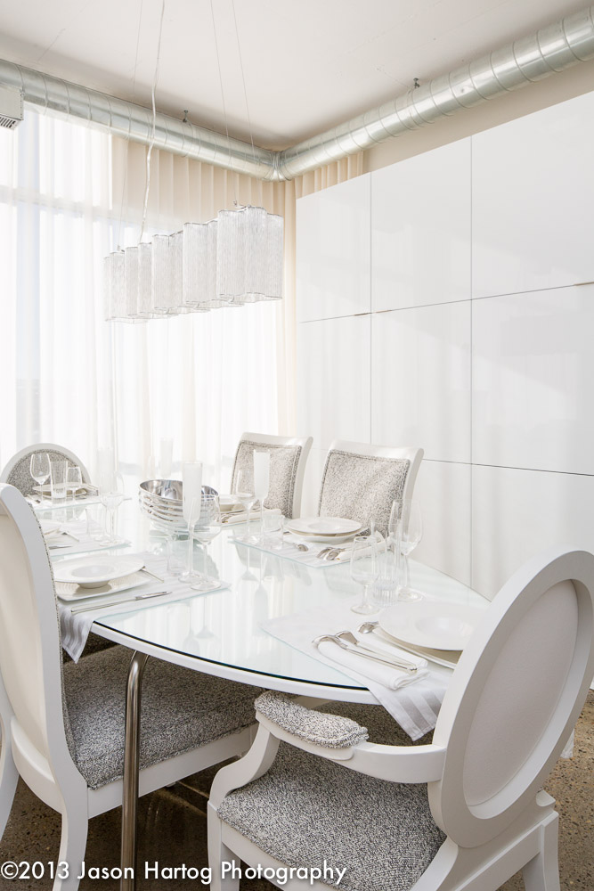 White Interior Photography Dining room
