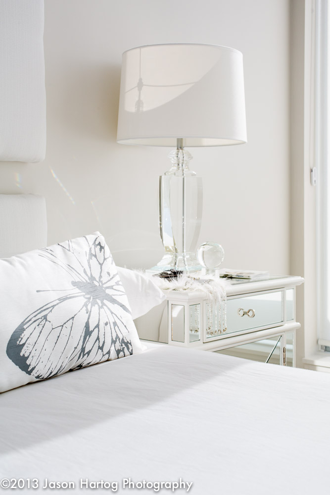 White Interior Photography Bedroom Detail